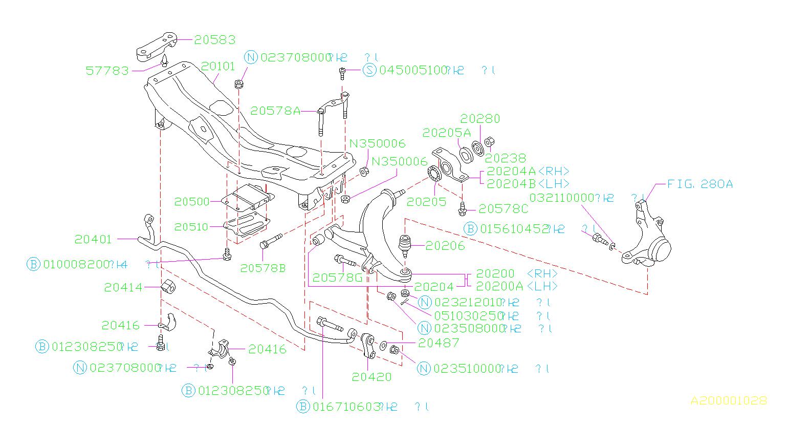 Byers Airport Subaru >> 20201AA000 - Subaru Bushing-transverse link, inner. Suspension, front, brakes | Byers Airport ...
